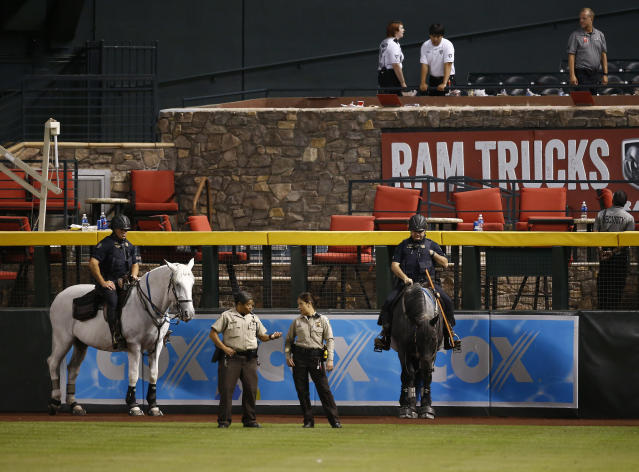 The Diamondbacks made sure to keep the Dodgers out of their pool. (AP Photo/Ross D. Franklin)