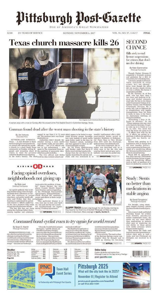 <p>PITTSBURGH POST-GAZETTE<br> Published in Pittsburgh, Pa. USA. (newseum.org) </p>