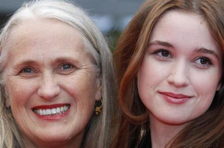 """Director Campion and her daughter Alice arrive on the red carpet for the screening of the film """"Sleeping Beauty"""" at the 64th Cannes Film Festival"""