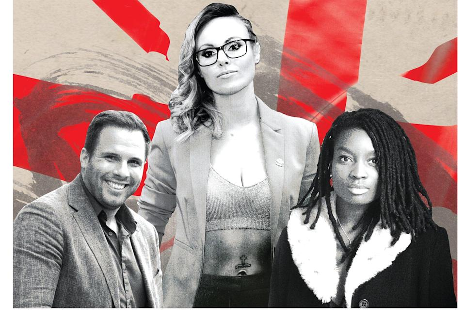 Founding principles: from left, GB News team members Dan Wootton, Michelle Dewberry and Inaya Folarin Iman
