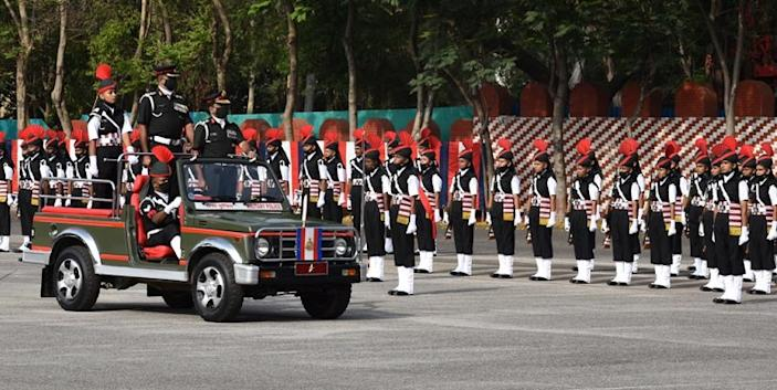 A low-key attestation parade for the soldiers took place at the Dronacharya Parade Ground in Bengaluru | Image: Twitter