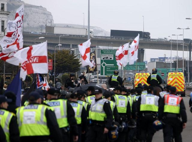 Dover immigration protest