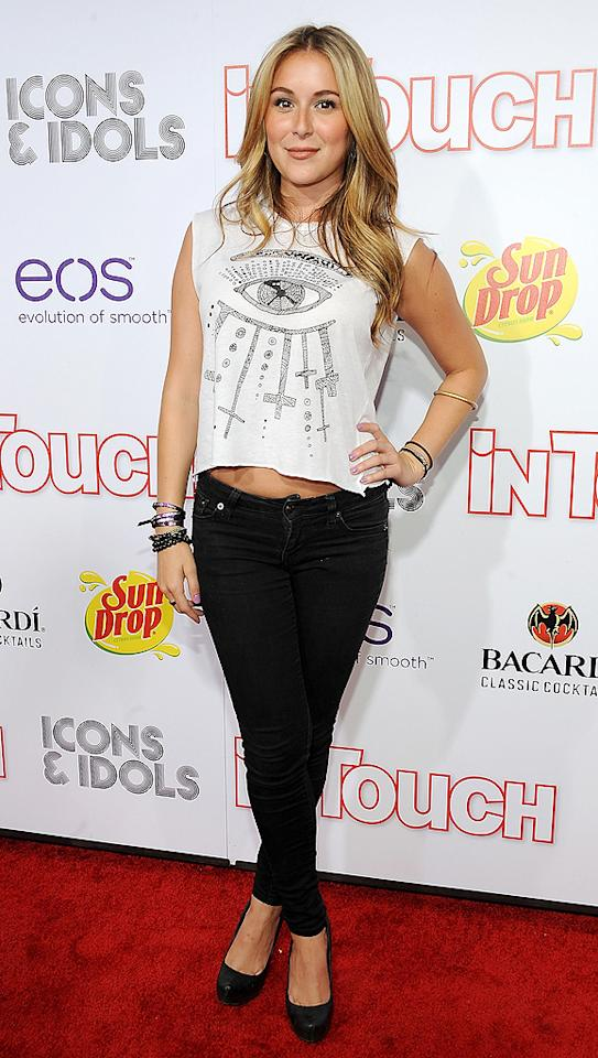 Newly-single Alexa Vega looked like she was very ready to mingle in tight black pants and a sexy cropped top. (9/6/2012)