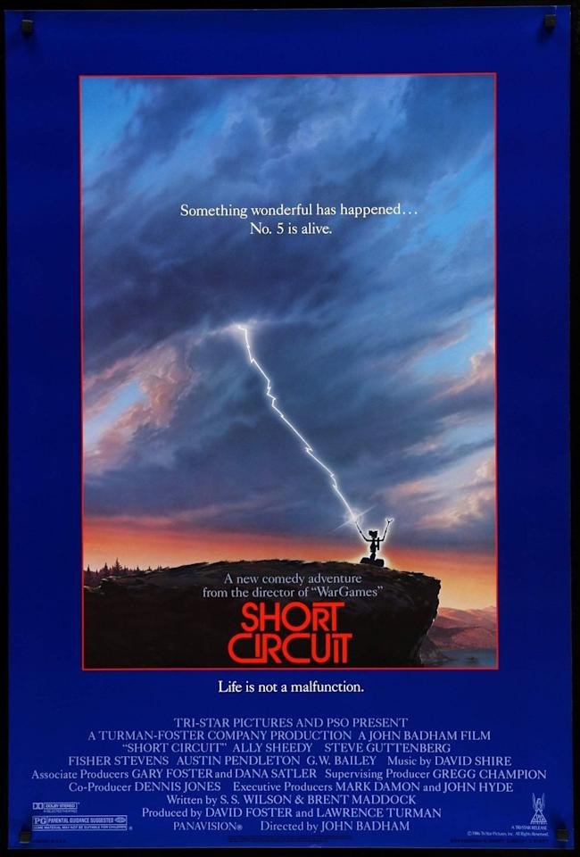 <p><em>Short Circuit</em> follows a robot named Number 5 on its journey from research facility to the real world. Although this comic sci-fi didn't earn <em>E.T.</em>-level hype, its solid cast (Brian McNamara and Fisher Stevens, among others) and lovable plot makes it one of the decade's most memorable films.</p>