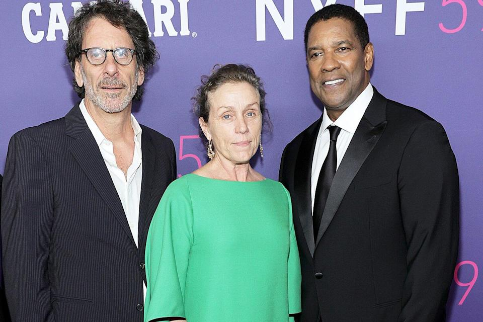 Joel Coen, Frances McDormand, and Denzel Washington attend the opening night screening of The Tragedy Of Macbeth during the 59th New York Film Festival at Alice Tully Hall, Lincoln Center on September 24, 2021 in New York City.