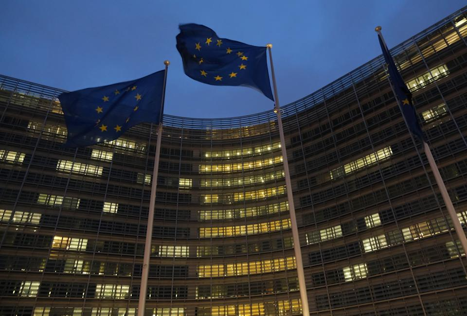 The European Commission headquarters in Brussels ( )