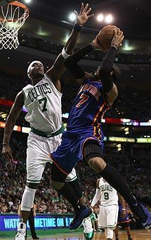Jermaine O'Neal totaled 12 points and four blocks in the Celtics' Game 1 win