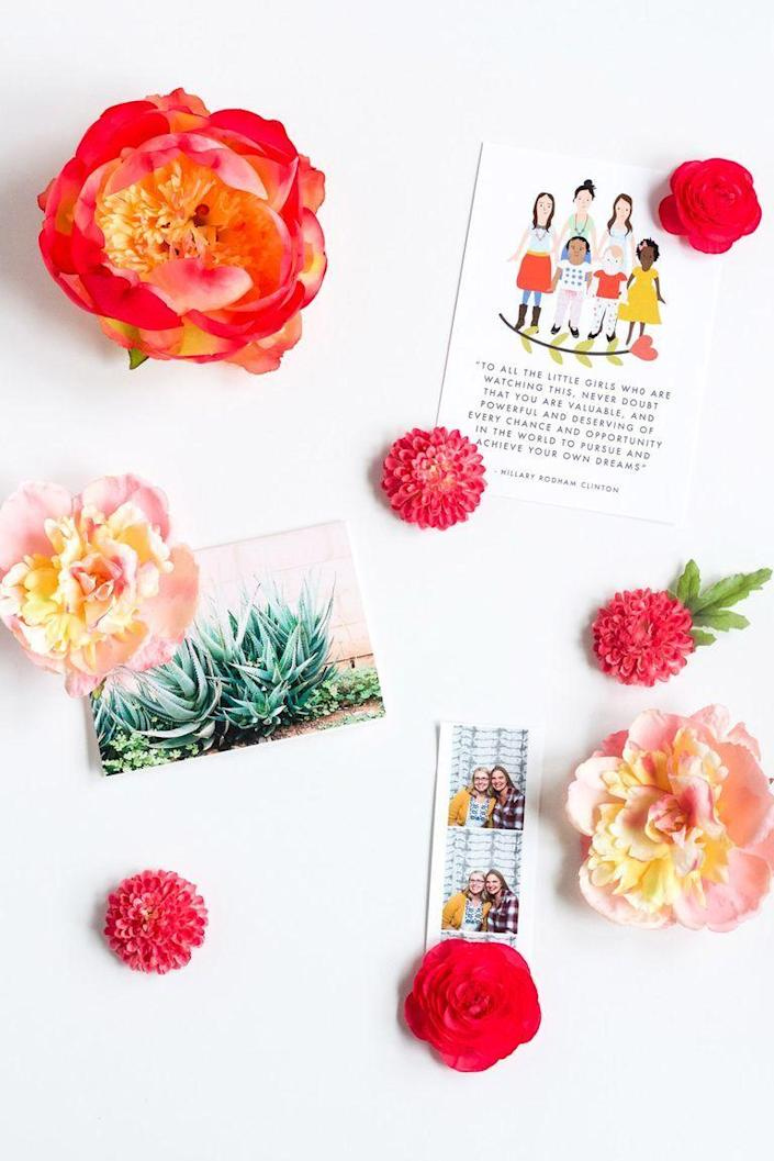 """<p>What better way to hang up photos of relatives than with something made by a family member? These DIY flower magnets will spruce up her fridge and make her smile every time she walks past them. </p><p><strong>Get the tutorial at <a href=""""https://luluthebaker.com/2017/04/diy-spring-flower-magnets/"""" rel=""""nofollow noopener"""" target=""""_blank"""" data-ylk=""""slk:Lulu the Baker"""" class=""""link rapid-noclick-resp"""">Lulu the Baker</a>.</strong></p><p><a class=""""link rapid-noclick-resp"""" href=""""https://go.redirectingat.com?id=74968X1596630&url=https%3A%2F%2Fwww.walmart.com%2Fbrowse%2Fcrafting%2Fpaper-crafting%2F1334134_6172404_4854691&sref=https%3A%2F%2Fwww.thepioneerwoman.com%2Fholidays-celebrations%2Fgifts%2Fg32307619%2Fdiy-gifts-for-mom%2F"""" rel=""""nofollow noopener"""" target=""""_blank"""" data-ylk=""""slk:SHOP PAPER CRAFT SUPPLIES"""">SHOP PAPER CRAFT SUPPLIES</a><strong><br></strong></p>"""
