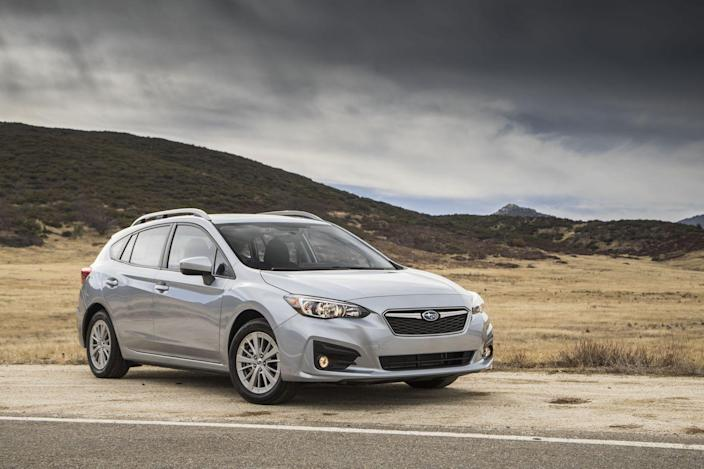 <p>Why we like it: its safety factor. The Impreza boasts solid bones-<em>very </em>solid bones. The 2018 model earned NHTSA's top five-star safety ratings and the highest Good ratings from the IIHS. All-wheel drive comes standard, an uncommon and welcome feature among entry-level compact cars that adds to the Impreza's safety cred. We went for the hatchback version, because it's slicker-looking than the base Impreza sedan. It comes with a five-speed manual transmission, which is fine by us because we never mind shifting our own gears.</p>