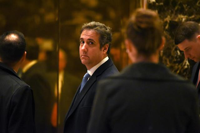 FILE PHOTO: Michael Cohen, attorney for The Trump Organization, arrives at Trump Tower in New York City, U.S. January 17, 2017. REUTERS/Stephanie Keith/File Photo