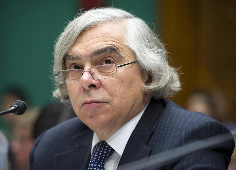 FILE - In this Sept. 18, 2013 file photo, Energy Secretary Ernest Moniz testifies on Capitol Hill in Washington. The Energy Department is poised to approve $6.5 billion in lending for two nuclear reactors under construction in Georgia. Energy Secretary Ernest Moniz is expected to announce the deal at a speech in Washington on Wednesday, a day before he visits the $14 billion Vogtle nuclear plant being built by Southern Co. and several partners about 30 miles southeast of Augusta. (AP Photo/Cliff Owen, File)