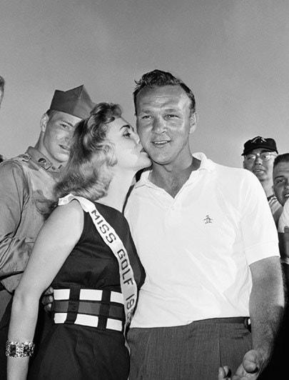 <p>Palmer poses with Miss Golf 1959, Andrea Little, after the third round of the 1959 Masters.</p> <p><em>(Editor's Note: This article was first published in 2014.)</em></p>