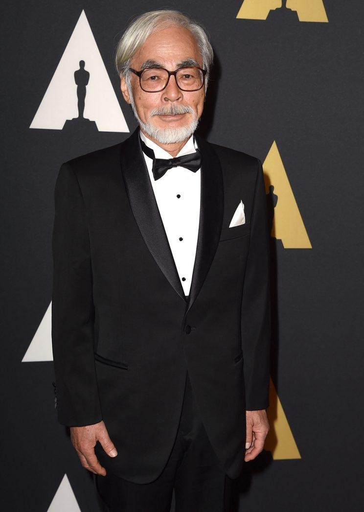 Hayao Miyazaki arrives at the Motion Picture Academy's 6th Annual Governors Awards at Dolby Theatre on Nov. 8, 2014, in Hollywood, Calif. (Photo: Steve Granitz/WireImage)