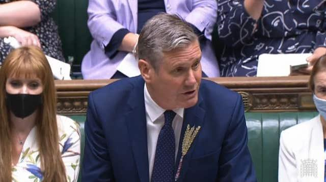 Labour leader Sir Keir Starmer (House of Commons/PA)