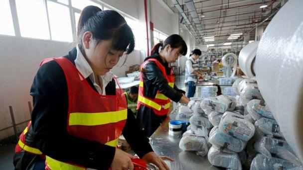 PHOTO: Staff members of a cross-border e-commerce company package products in Ningbo, China, Nov. 8, 2017. (Xinhua/Huang Ruipeng via Newscom)