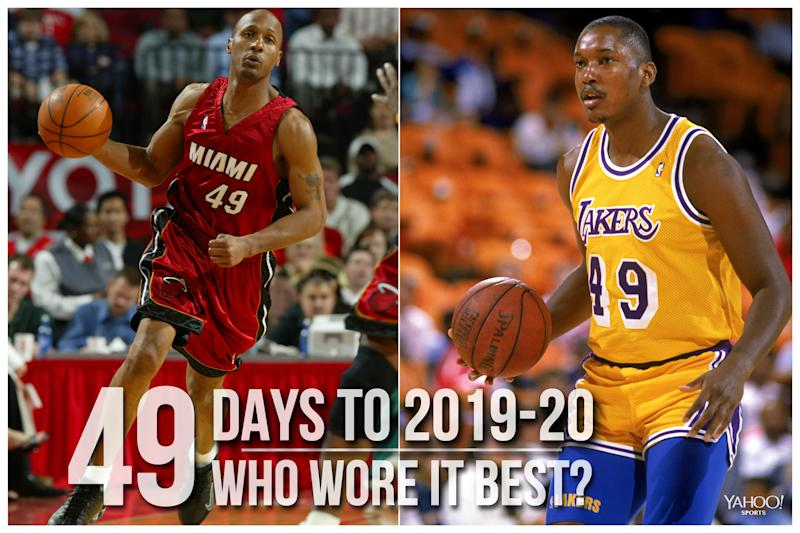 Which NBA player wore No. 49 best?