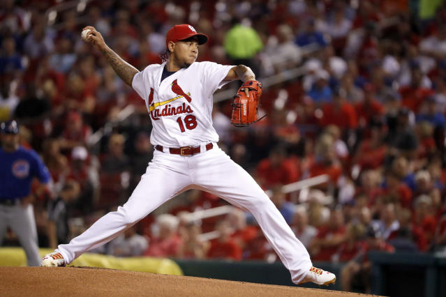 Carlos Martinez was named in a lawsuit in an alleged attack at a strip club that left a man injured. (AP)