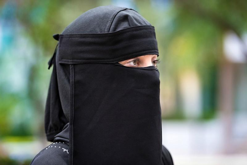A woman wearing a traditional niqab. (Photo: Getty)