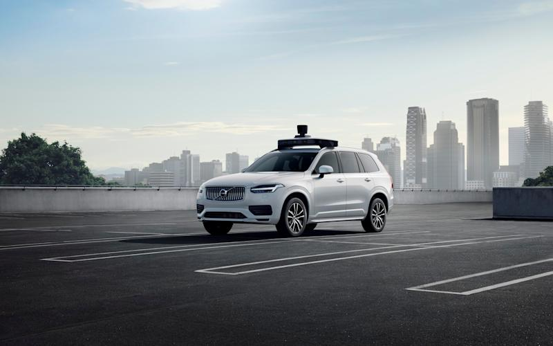 The company also unveiled a new Volvo autonomous vehicle at the event, and said it was working towards using a car without a steering wheel or pedals, though this was not possible under current regulations. - Uber