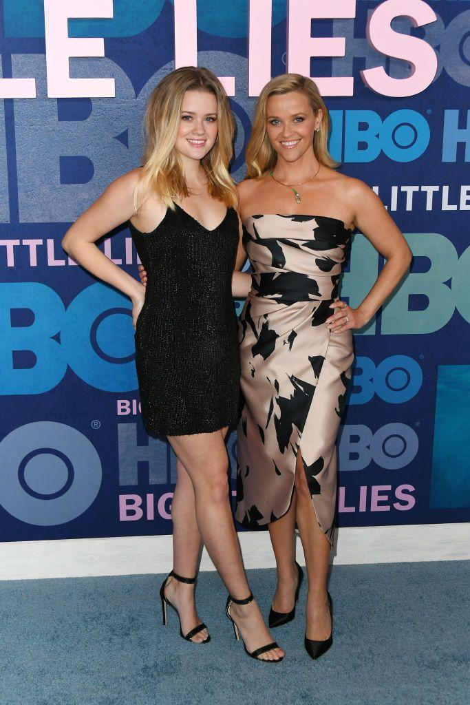 """<p>The daughter and mother duo posed on the <del>red </del>blue carpet for the <a href=""""https://www.elle.com/uk/life-and-culture/a27642675/big-little-lies-cast-meryl-streep-photo/"""" rel=""""nofollow noopener"""" target=""""_blank"""" data-ylk=""""slk:season 2 premiere of Witherspoon's hit show,"""" class=""""link rapid-noclick-resp"""">season 2 premiere of Witherspoon's hit show, </a><a href=""""https://www.elle.com/uk/life-and-culture/a27642675/big-little-lies-cast-meryl-streep-photo/"""" rel=""""nofollow noopener"""" target=""""_blank"""" data-ylk=""""slk:Big Little Lies."""" class=""""link rapid-noclick-resp"""">Big Little Lies.</a></p>"""