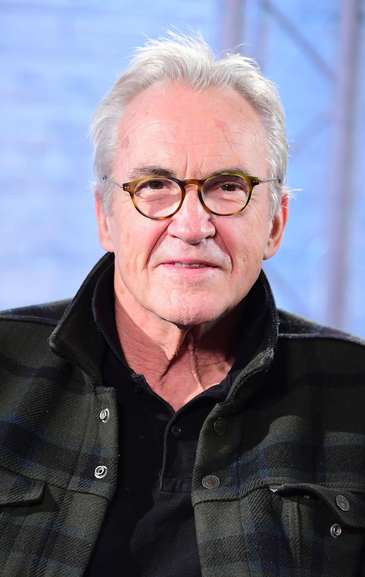 Larry Lamb and his son George at BUILD where the father and son duo talked about their new Channel 5 series, Britain By Bike, at AOL's Capper Street Studio in London.