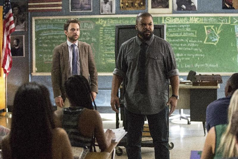 "This image released by Warner Bros. Pictures shows Ice Cube, right, and Charlie Day in a scene from ""Fist Fight."" (Bob Mahoney/Warner Bros. Pictures via AP)"