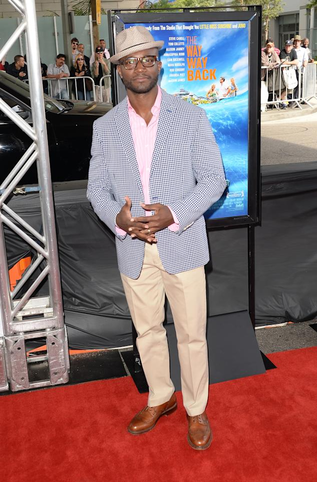 "LOS ANGELES, CA - JUNE 23: Taye Diggs attends the 2013 Los Angeles Film Festival premiere of the Fox Searchlight Pictures' ""The Way, Way Back"" held on June 23, 2013 in Los Angeles, California. (Photo by Jason Merritt/Getty Images)"
