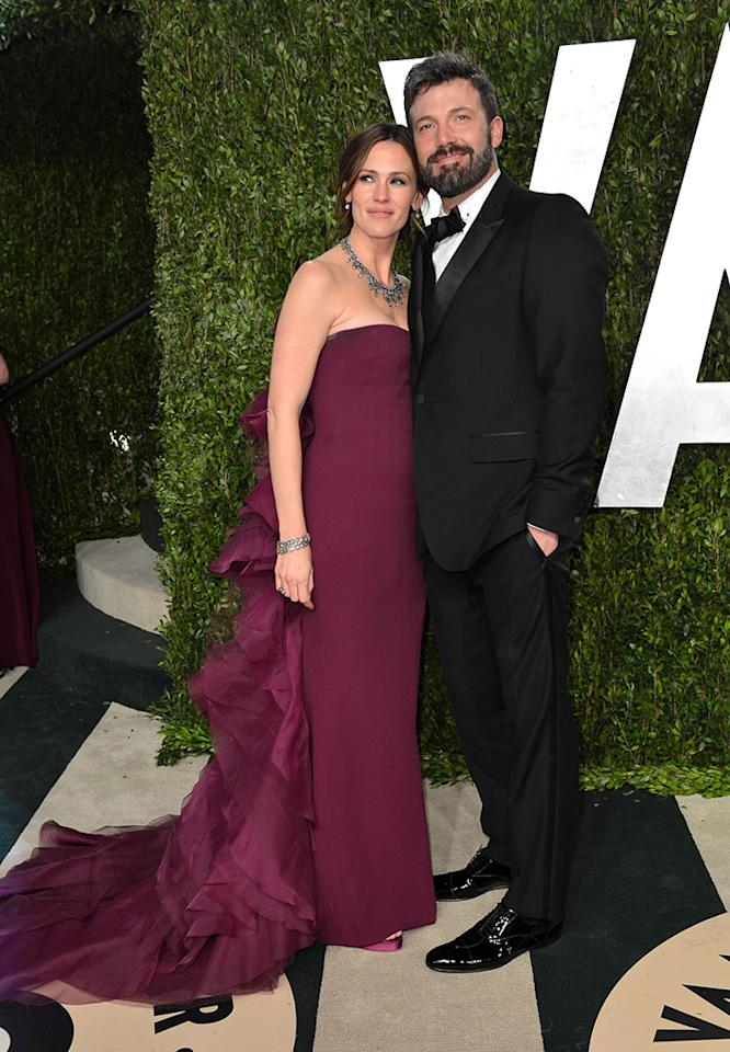 Jennifer Garner and Ben Affleck arrive at the 2013 Vanity Fair Oscar Party hosted by Graydon Carter at Sunset Tower on February 24, 2013 in West Hollywood, California.