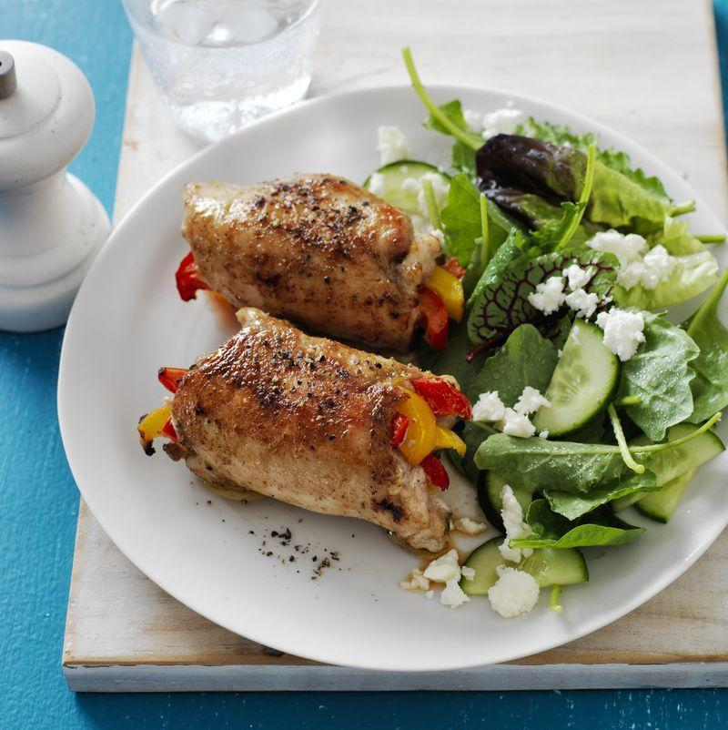 """<p>This twist on the traditional Mexican dish will have everyone """"rolling up"""" for seconds.</p><p><u><em><a href=""""https://www.womansday.com/food-recipes/food-drinks/recipes/a57701/fajita-chicken-roll-ups-recipe/"""" rel=""""nofollow noopener"""" target=""""_blank"""" data-ylk=""""slk:Get the recipe for Fajita Chicken Roll-Ups."""" class=""""link rapid-noclick-resp"""">Get the recipe for Fajita Chicken Roll-Ups.</a></em></u></p>"""