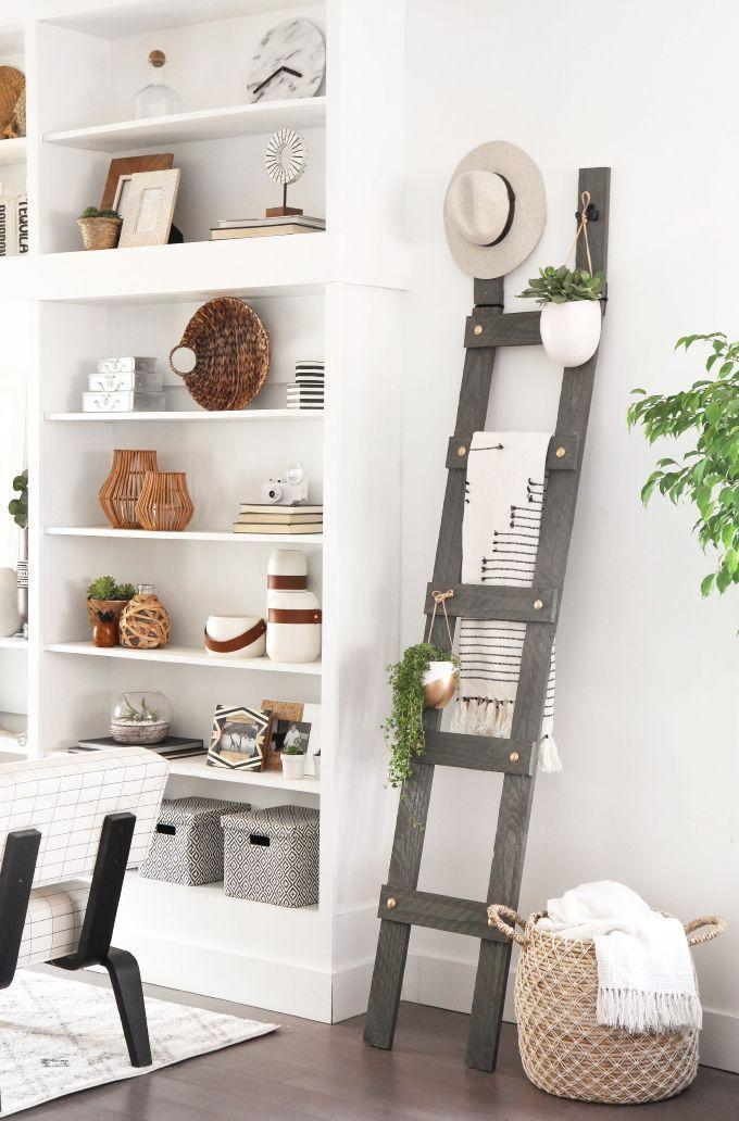 "<p>No space to store your hats? Need a rack for towels? Or are you just in need of extra space to hang some planters? This DIY ladder is not only functional, but it's also got all the industrial cool vibes.</p><p>Get the tutorial at <a href=""http://ispydiy.com/my-diy-gold-bolt-blanket-ladder/"" rel=""nofollow noopener"" target=""_blank"" data-ylk=""slk:I Spy DIY"" class=""link rapid-noclick-resp"">I Spy DIY</a>.</p>"