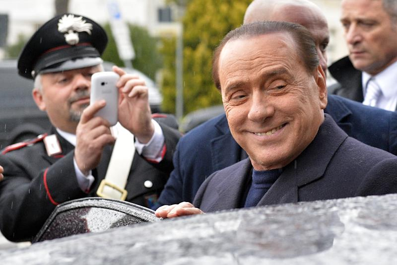 Former Italian Prime Minister Silvio Berlusconi was found guilty of paying for sex with an underage prostitute (AFP Photo/Andreas Solaro)