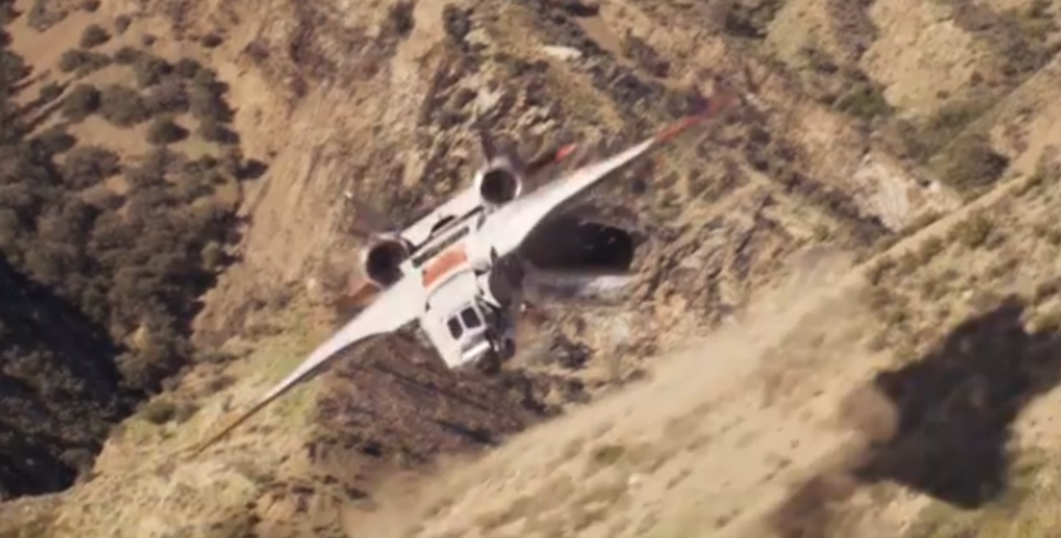 An early Quinjet appears in Captain Marvel (Credit: Marvel Studios)