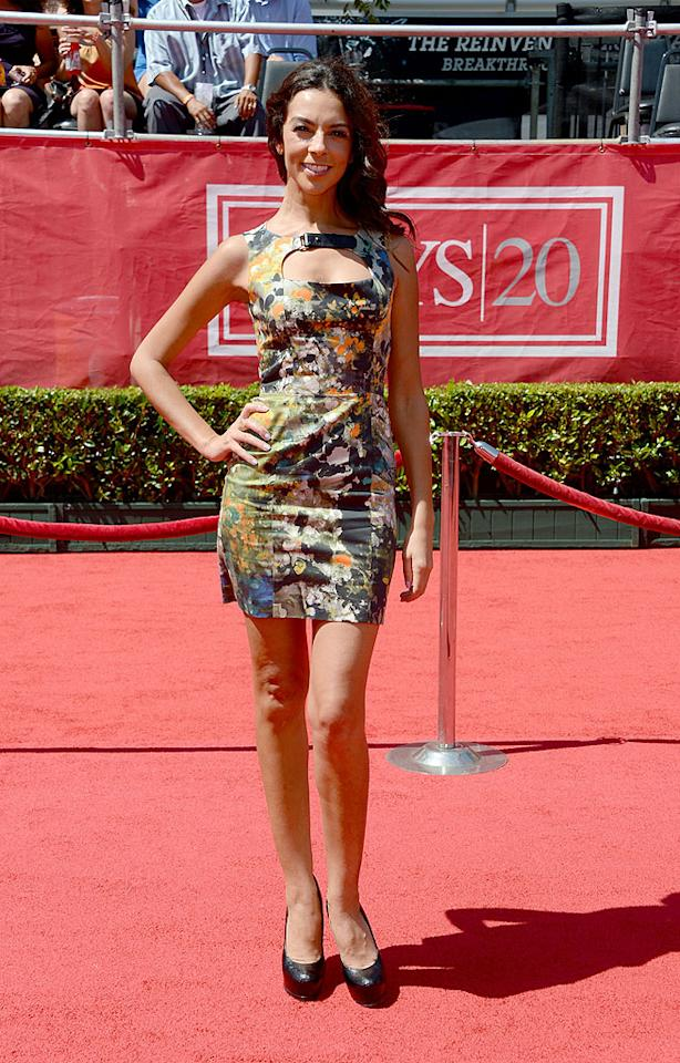 """Extra"" correspondent (and Simon Cowell's ex-girlfriend) Terri Seymour arrives at the 2012 ESPY Awards."