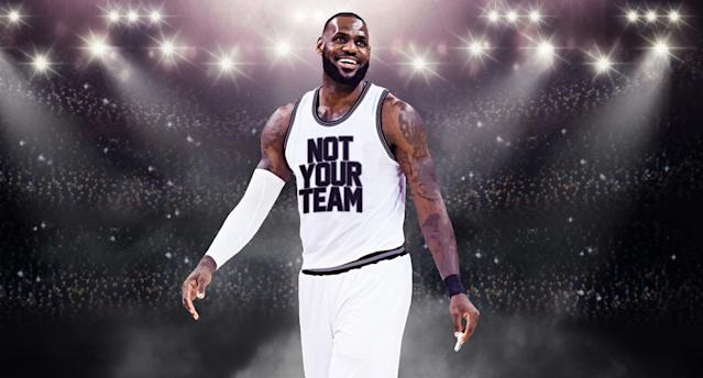 """Don't get your hopes up for <a class=""""link rapid-noclick-resp"""" href=""""/nba/players/3704/"""" data-ylk=""""slk:LeBron James"""">LeBron James</a> in NBA free agency. (Yahoo Sports)"""
