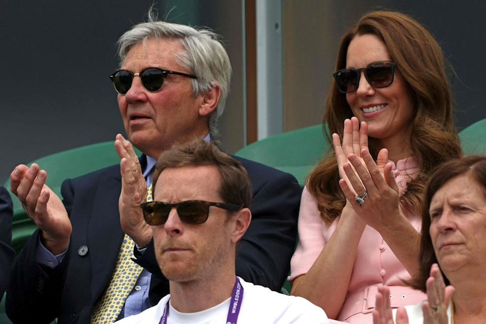 The Duchess of Cambridge with father Michael Middleton (AFP via Getty Images)