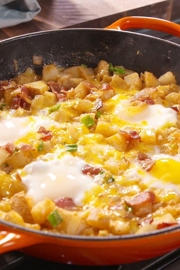 """<p>This will definitely be the breakfast special in your house from now on.</p><p>Get the recipe from <a href=""""/cooking/recipe-ideas/recipes/a49558/loaded-breakfast-skillet-recipe/"""" data-ylk=""""slk:Delish"""" class=""""link rapid-noclick-resp"""">Delish</a>.</p>"""