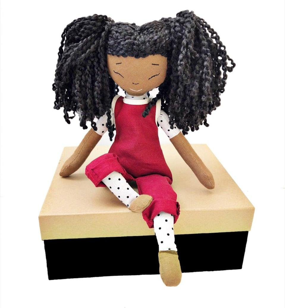 """<p>Standing between 18 and 20 inches tall, the <a href=""""https://www.popsugar.com/buy/Jess-Handmade-Tea-Party-Doll-579600?p_name=Jess%20Handmade%20Tea%20Party%20Doll&retailer=harperiman.com&pid=579600&price=110&evar1=moms%3Aus&evar9=47528625&evar98=https%3A%2F%2Fwww.popsugar.com%2Ffamily%2Fphoto-gallery%2F47528625%2Fimage%2F47528694%2FJess-Handmade-Tea-Party-Doll&list1=kid%20shopping&prop13=mobile&pdata=1"""" class=""""link rapid-noclick-resp"""" rel=""""nofollow noopener"""" target=""""_blank"""" data-ylk=""""slk:Jess Handmade Tea Party Doll"""">Jess Handmade Tea Party Doll</a> ($110-$128) has legs that bend and comes with a colorful bodysuit. Be sure to allow some lead time before you place your order, as most dolls take about a month to make!</p>"""