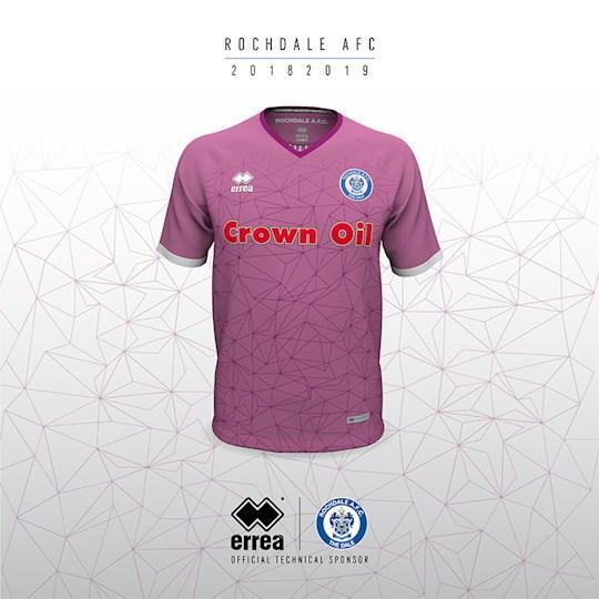 <p>A bright pink shirt with some seriously busy patterns, Rochdale's third kit was actually popular among fans. Why, we're not sure. (Rochdale's website) </p>