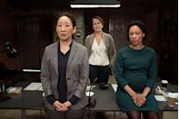 """<p><em>BBC America</em> <a class=""""link rapid-noclick-resp"""" href=""""http://www.bbcamerica.com/shows/killing-eve/where-to-watch"""" rel=""""nofollow noopener"""" target=""""_blank"""" data-ylk=""""slk:Watch Now"""">Watch Now</a></p><p><em>Killing Eve</em>'s first season was always going to be a tough act to follow. Season two manages finds its way through—albeit with a rogue plot hole here and there—if only on the sheer strength of its cast. Sandra Oh, Jodie Comer, and Fiona Shaw are transfixing, nailing every line (even if the writing left something to be desired).</p>"""