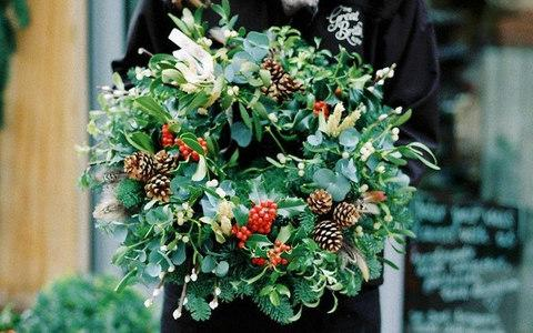 Wreath making in Herefordshire