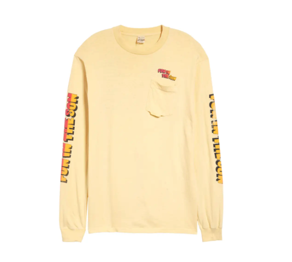 Unisex Vintage '80s Fun in the Son Long Sleeve Graphic Cotton Tee. Image via Nordstrom.