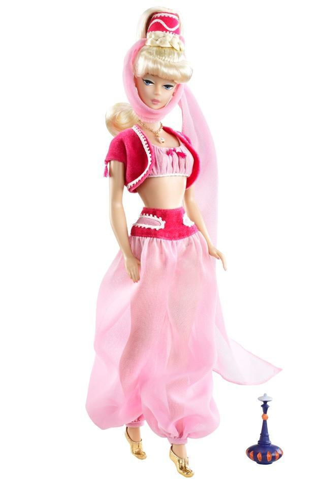 "<div class=""caption-credit""> Photo by: barbiecollector.com</div><b>""I Dream Of Jeannie"" Barbie doll, released in 2010 for $34.95</b> <br> If we rub the included genie lamp can we get her crazy-long ponytail?"