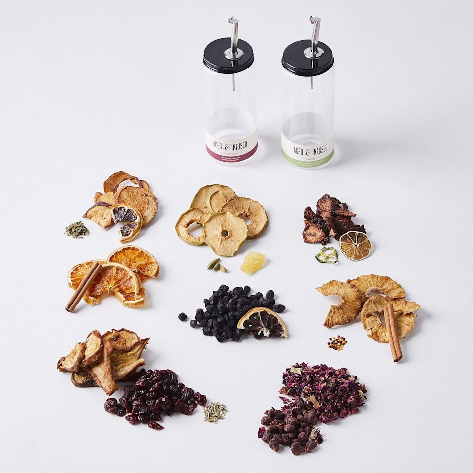 """<p><strong>Natural Liquor Infusion Seasonal Subscription</strong></p><p>food52.com</p><p><strong>$98.00</strong></p><p><a href=""""https://go.redirectingat.com?id=74968X1596630&url=https%3A%2F%2Ffood52.com%2Fshop%2Fproducts%2F8025-natural-liquor-infusion-seasonal-subscription&sref=https%3A%2F%2Fwww.veranda.com%2Fluxury-lifestyle%2Fentertaining%2Fg36491087%2Fhome-bar-accessories%2F"""" rel=""""nofollow noopener"""" target=""""_blank"""" data-ylk=""""slk:Shop Now"""" class=""""link rapid-noclick-resp"""">Shop Now</a></p><p>Here's your chance for extra credit: purchase a dehydrator to make dried garnishes with the freshest seasonal fruit and herbs as they do at Bemelmans. Or, you can treat yourself to this seasonal garnishes subscription for crafting fabulous cocktails in seconds. And don't forget to stock up on pitted Castelvetrano olives à la Bemelmans!</p>"""