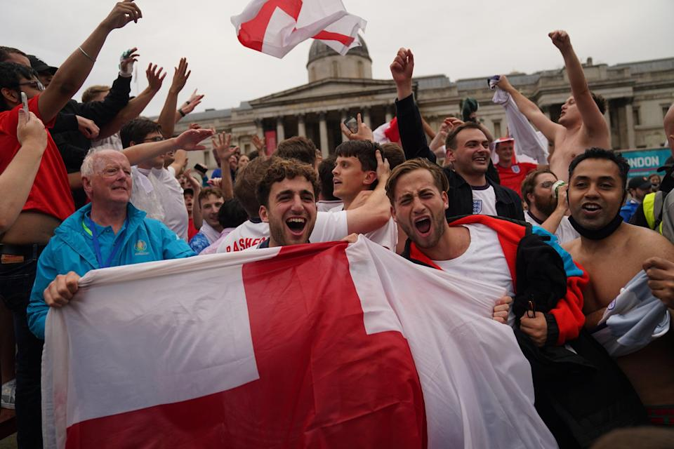 Fans watch England v Germany (PA Wire)