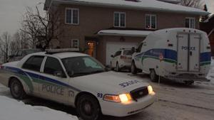 Gatineau police were still working on their investigation at the home of Senator Patrick Brazeau Thursday evening.