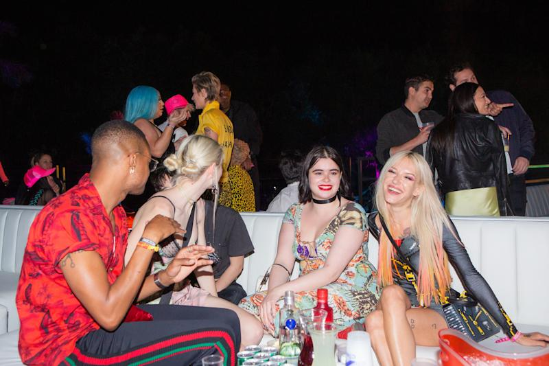 Barbie Ferreira and Bria Vinaite attend the Moschino party in Indio, California, during weekend one of Coachella on Saturday, April 13, 2019. Photograph by Alex Welsh for W magazine.