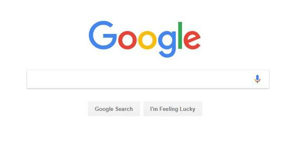 Screen capture of Google homepage with search bar.