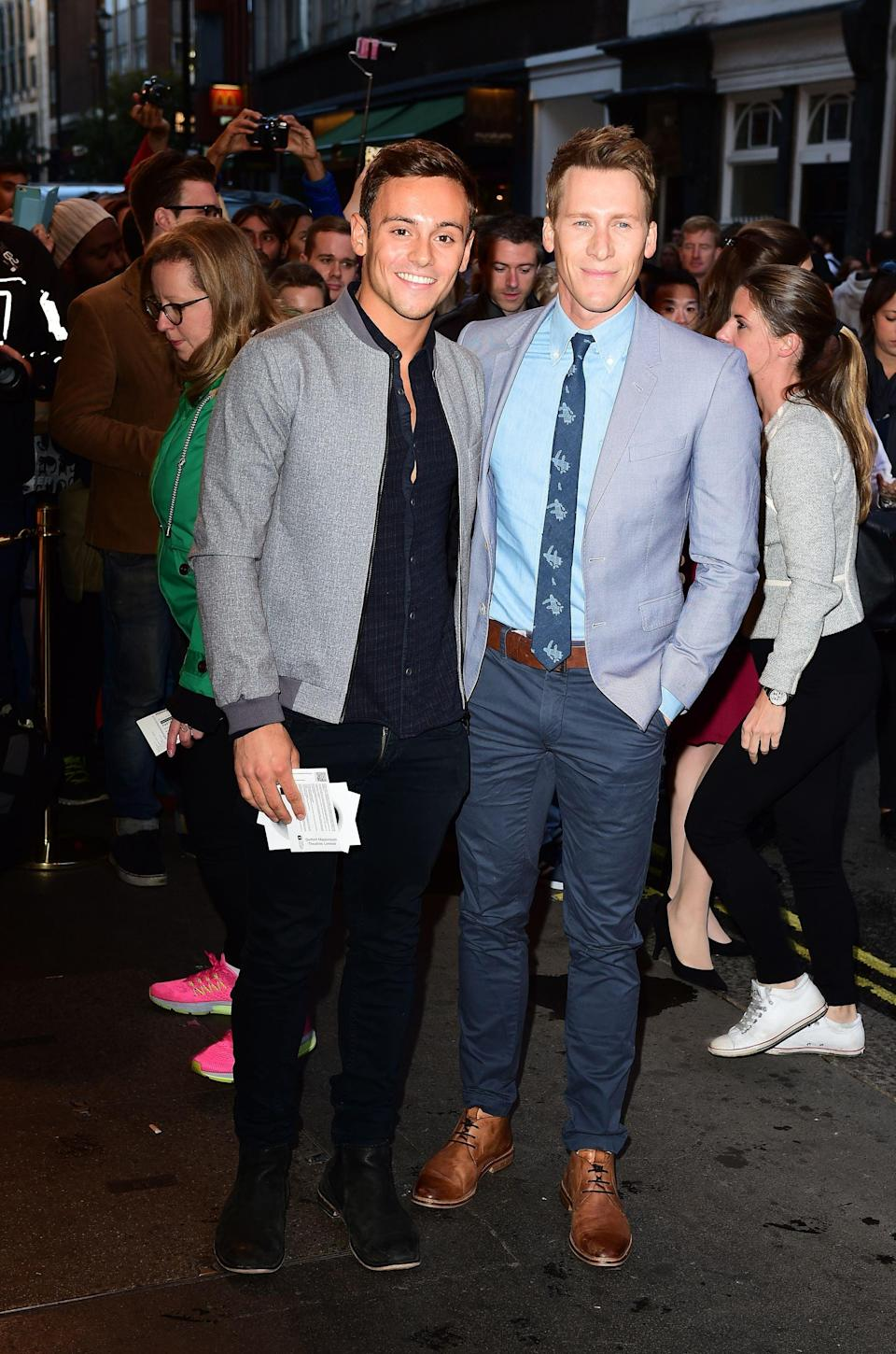 Tom Daley and Dustin Lance Black (PA) (PA Archive)