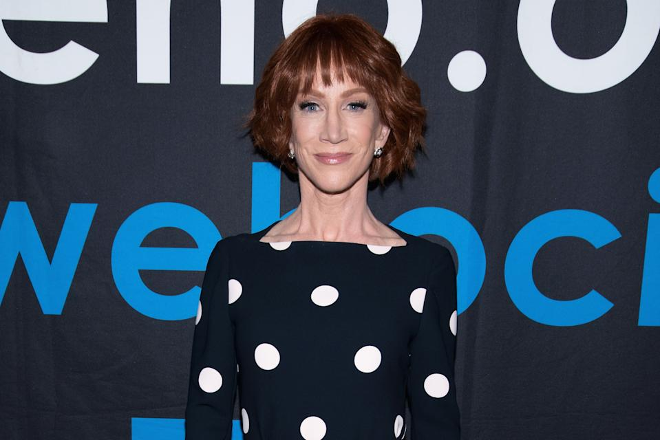 WEST HOLLYWOOD, CA - JUNE 05:  Actress/honoree Kathy Griffin arrives to the Rainbow Key Awards at City of West Hollywood's Council Chambers on June 5, 2018 in West Hollywood, California.  (Photo by Tara Ziemba/Getty Images)