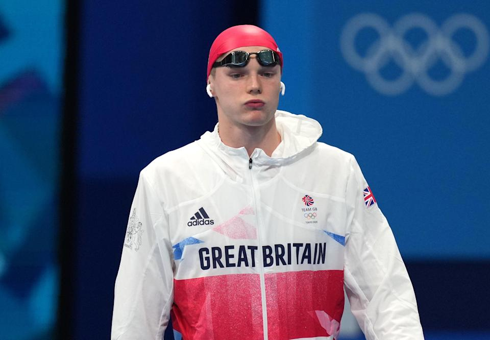 Favourite Duncan Scott had to settle for second place in the men's 200m freestyle (PA Wire)